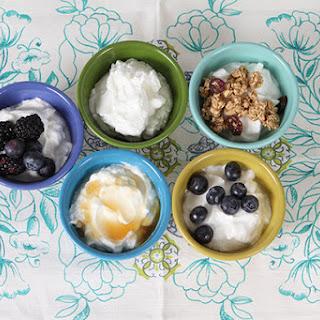 Homemade Yogurt.
