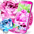 Rose pink water drop live wallpaper