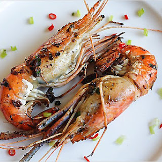 Pan-fried Prawns Recipe (干烧虾)