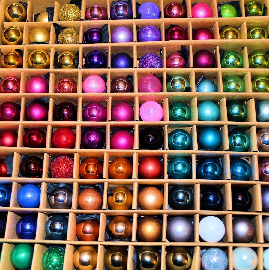 Baubles by Heather Aplin - Public Holidays Christmas ( tiny, balls, colourful, tree, bright, christmas, baubles,  )