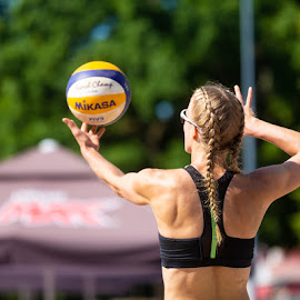 Beach volley by Simo Järvinen - Sports & Fitness Other Sports ( 2018, woman, salo, beach volley, action, female, sport )