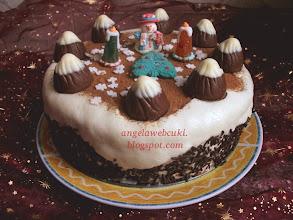 Photo: Karácsonyi torta recept - Kókuszos Mont Blanc torta