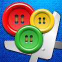 Buttons and Scissors icon