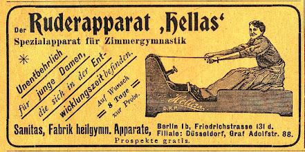 Photo: 1907 Annonce for romaskine i magasinet Daheim.