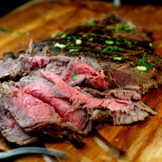 Spicy Asian Marinated Flank Steak.