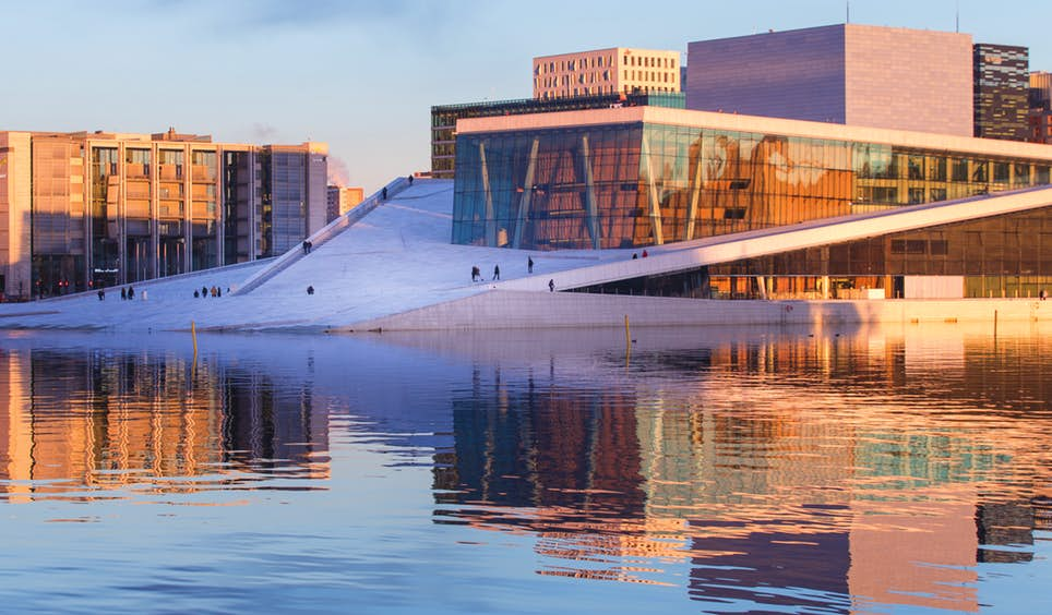 The clean diagonals of Oslo Opera House have been a fixture since 2007 and are indicative of the city's taste for innovative architecture © Mats Anda / Moment RF