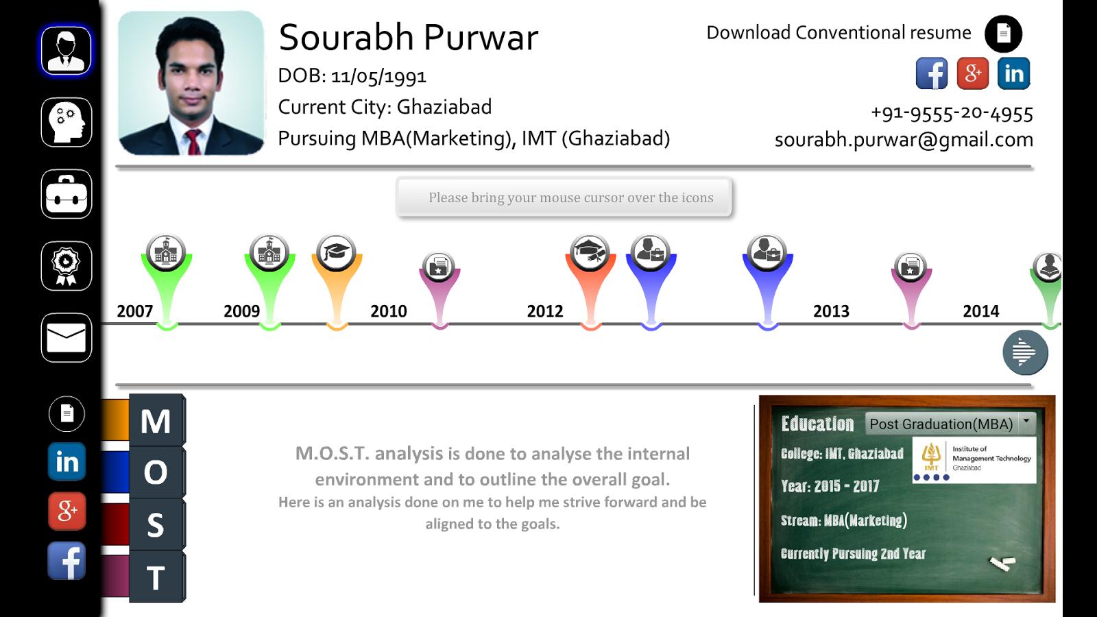 interactive resume sourabh p screenshot - Interactive Resume