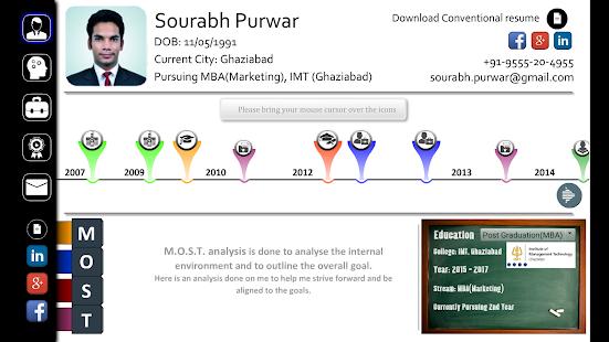 screenshot image - Interactive Resume