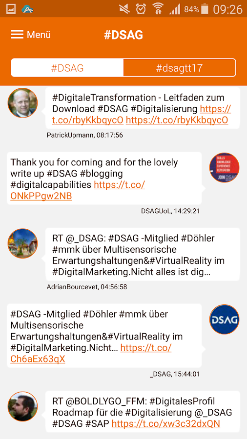 DSAG-Events – Screenshot