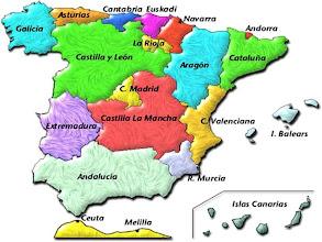 Photo: Mapa de autonomías (nombres)