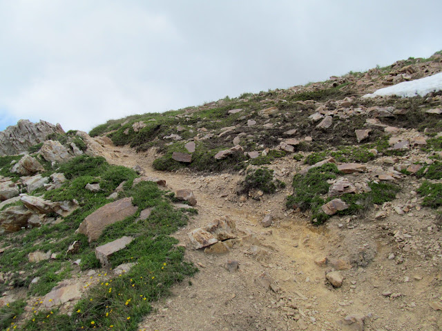 Final climb to the second ridge