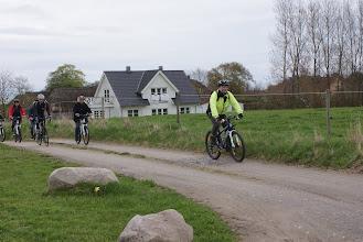 Photo: Cykelekspeditionen ankommer til Fløjstrup