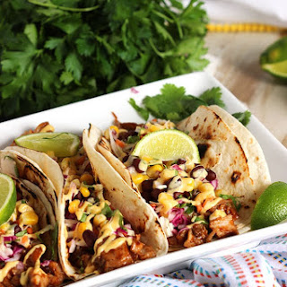 Barbecue Pork Rib Tacos.