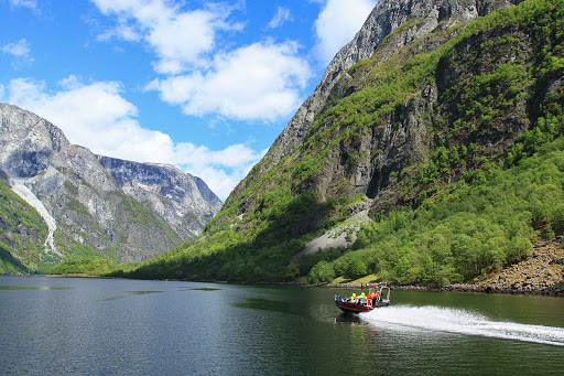 Norway-Naeroyfjord5 - An option for a daytrip out of Bergen, Norway, includes a jetboat on Naeroyfjord.