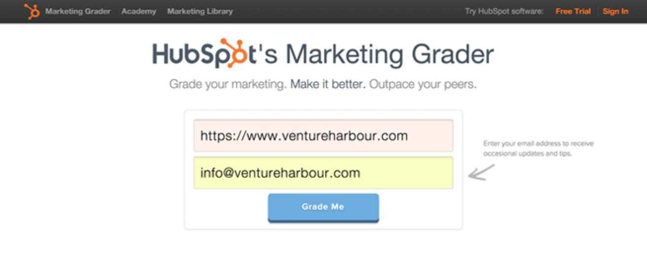 HubSpot form example