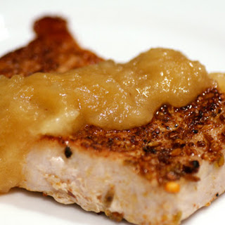 Pork Chops with Toasted Spice Rub and Apple Dressing Recipe