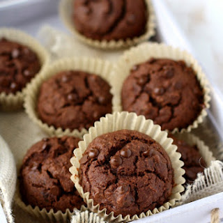 Double Chocolate Lentil Muffins.