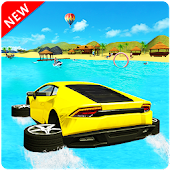 Water Surfer Car Racing Floating Games