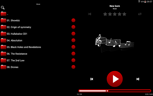 mMusic Skin Auto Red app (apk) free download for Android/PC/Windows screenshot