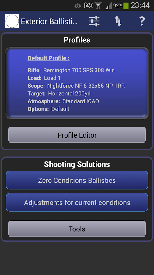 Exterior Ballistics Calculator- screenshot