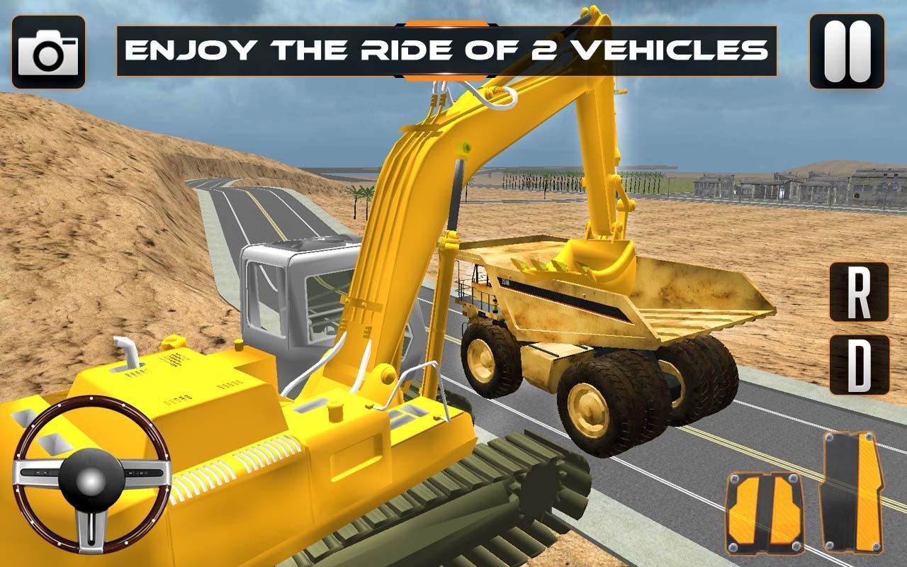 Sand-Excavator-Crane-Sim 20