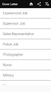 Cover Letter Maker for Resume CV Templates app PDF