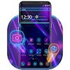 Purple Neon Galaxy Launcher