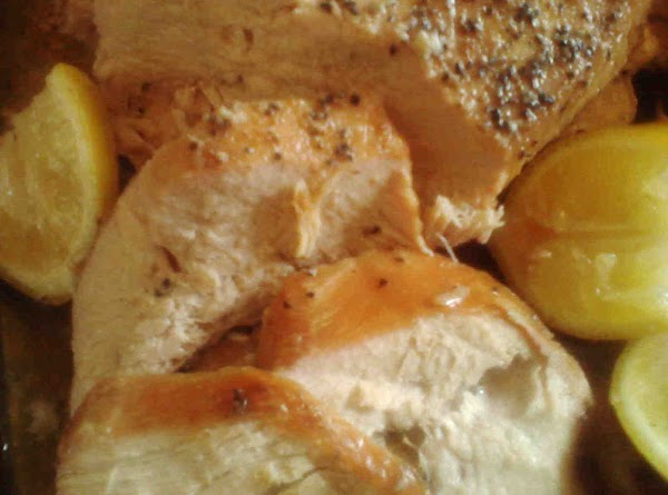 Add 1/4 cup dry white wine with one cup chicken stock. Cover with foil. Bake...