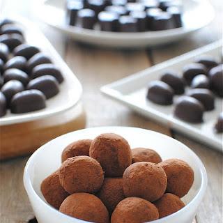 Homemade Chocolates and Fudgey Cognac Truffles