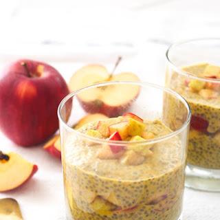 Pumpkin Spice Chia Pudding + Apple Compote