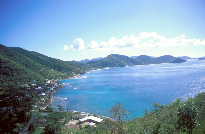 A view of the bay in scenic Tortola, British Virgin Islands.