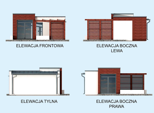 Palmas szkielet drewniany dom letniskowy - Elewacje