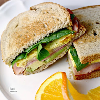 Ham, Egg, and Avocado Sandwich