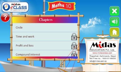 MiDas eCLASS Maths 10  Demo screenshot 8