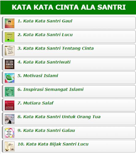 Stáhnout Kata Kata Cinta Ala Santri Apk Nejnovější Verzi App