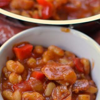 Baked Spicy Smokey White Beans