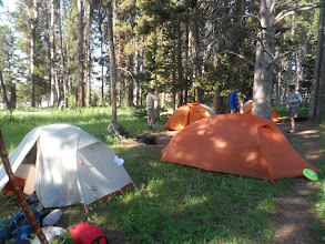 Photo: our camp site away from the fire pit