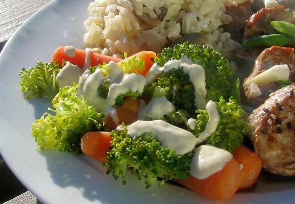 Carrots And Broccoli With Horseradish Sauce Recipe
