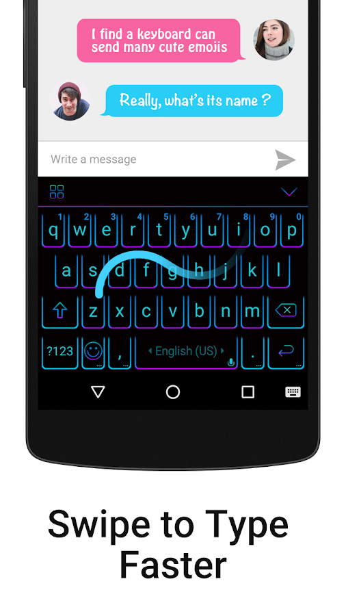iKeyboard - emoji, emoticons- screenshot