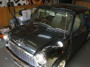 Photo: kustom pinstriping mini