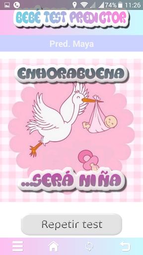 Test sexo bebe niño o niña Screenshot