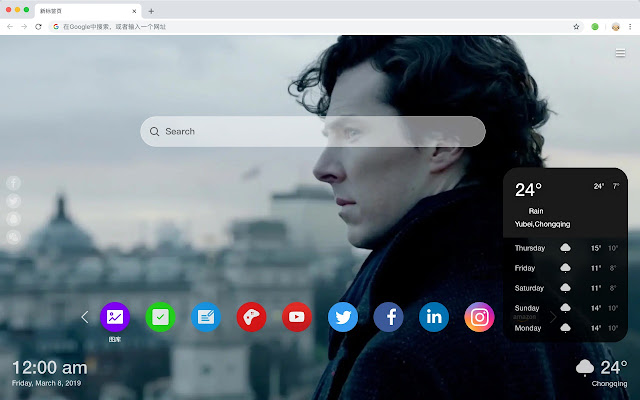 Sherlock HD New Tabs Popular TV Dramas Theme