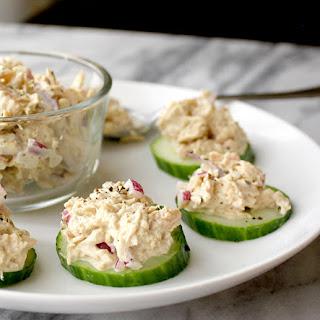 Tuna Salad Cucumber Bites.