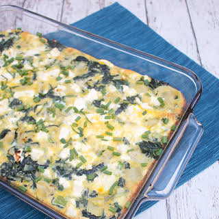 Spinach and Artichoke Breakfast Casserole.