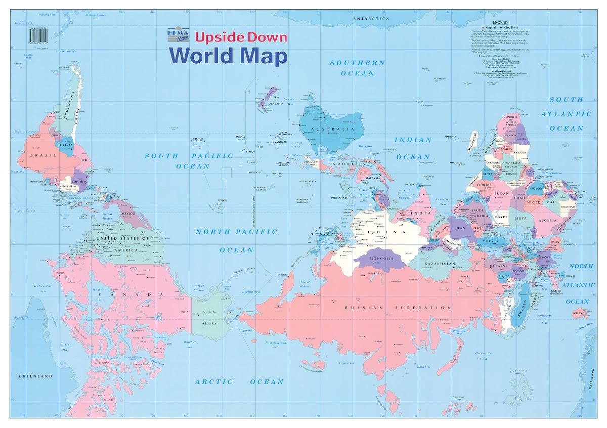 Upside Down World Map - Hema Maps — Google Arts & Culture