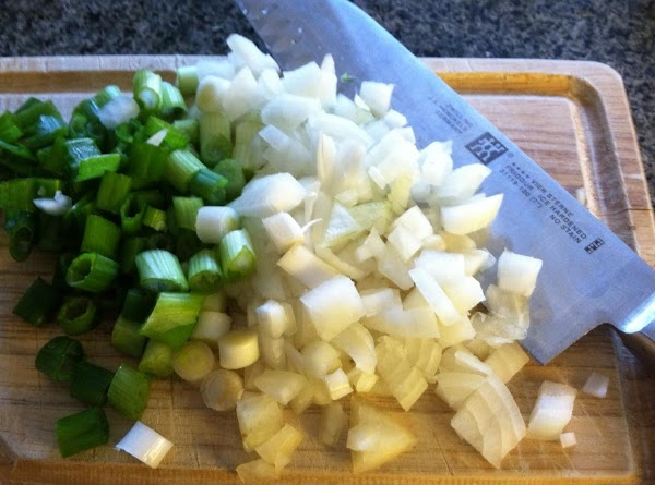 Chop your onion and set aside.