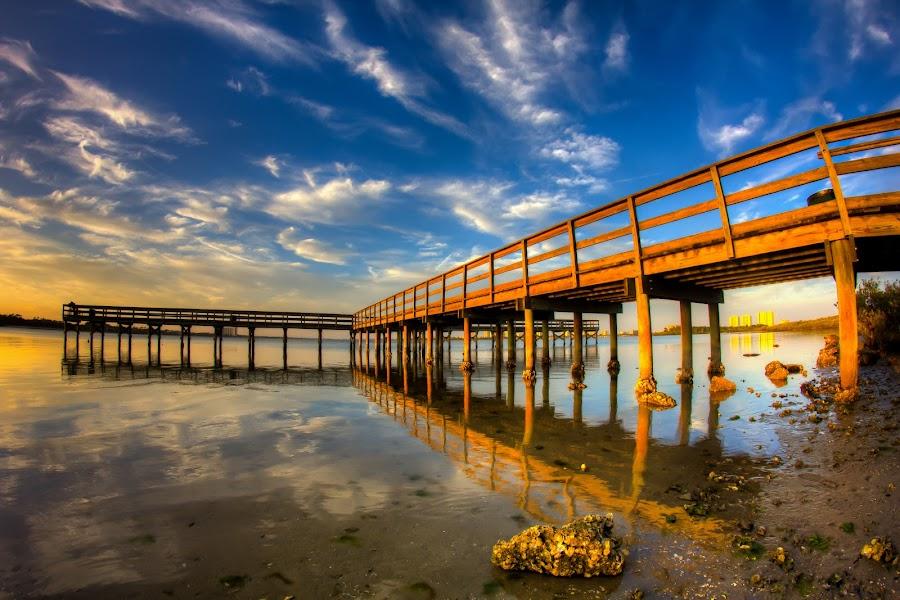 Reflections of Daytona  by Joe Martin - Landscapes Beaches ( beautifu, reflection, hdr, dayona beach, ocean, las vegas, fine art prints, fl, wall hanging, joe martin, sunset, 2011, joemartinphotography )