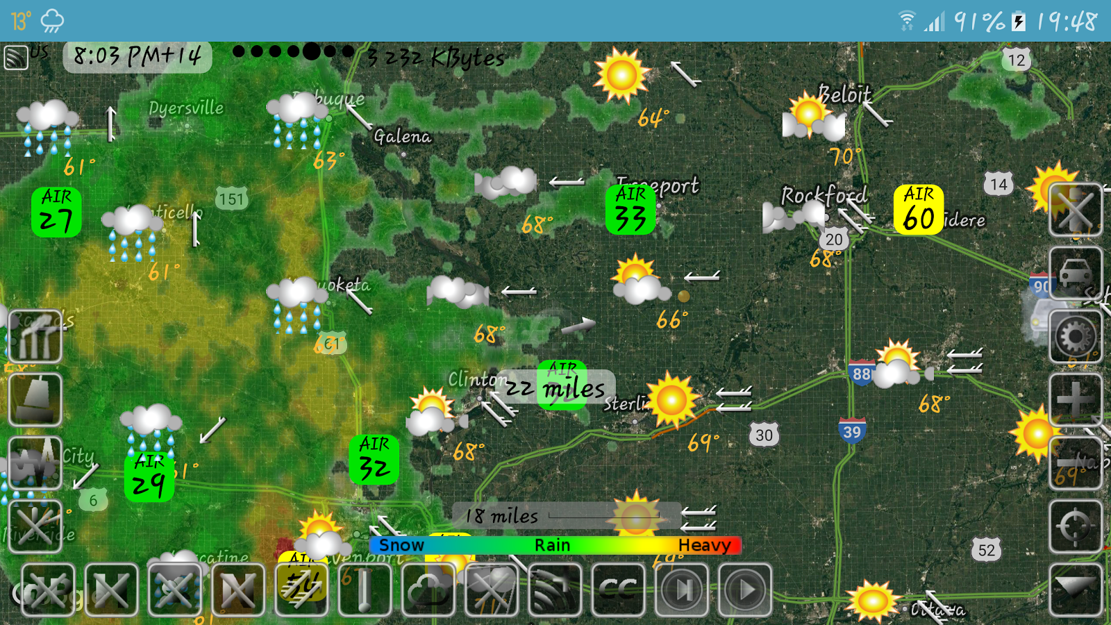 Weather Map with Hurricane tracks and Future radar- screenshot