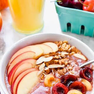 Apple Cherry Smoothie Bowl.