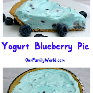 Yogurt Blueberry Pie.